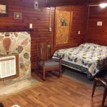 Common Area and queen bed, Cabin 6