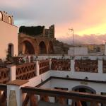 Rooftop terrace at sunrise