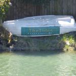 The Sign on the river for The Tides Restaurant