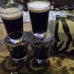 Guinness with shots of Kahlua
