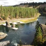 Spokane River from the rock outcropping (east side)
