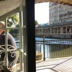 View from front window of the Riverside Cafe across the Avon, Bath.