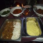 Food was varied and plentiful
