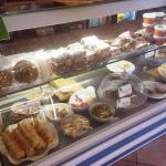 Cakes and salads
