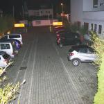 Morgendlicher Blick auf den Parkplatz
