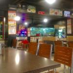 Restaurant seatings and the food counter