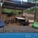 Thobeka Backpackers Pool and braai area
