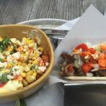 Taco and Mexican Corn