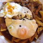 Huevos rotos con reducción de Pedro Ximenez
