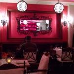 Palato Restaurant interior with mirror in mirror effect