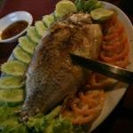 Grilled fish in aluminium foil