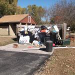 dumpster in Frontier Loop, El Dorado State Park, KS