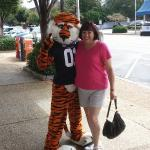 Aubie at Toomer's Corner