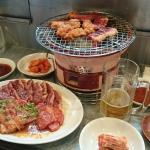Charcoal fire grilled meat Kyorochan Foto