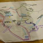 The map Sarah drew for us!