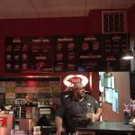 Order Counter - Menu behind on wall