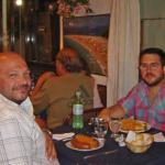 Comiendo en Makarska