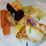 Kingfish and selected vegetables