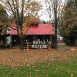 Beautiful little maple museum with Halloween decorations