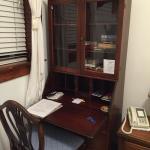 Pretty desk with books to read