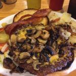 Bacon Cheeseburger with Mushrooms.