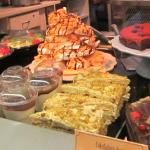 View of part of cake display