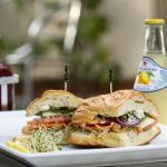 Veggie sandwich on a croissant !