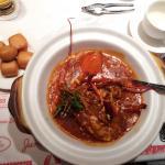 Chilli lobster was yummy!