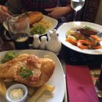 Lovely Fish and Chip meals with Cumberland Sausage alternative