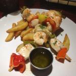 Bazil's - seafood skewer entree