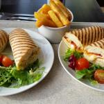 Paninis and chips