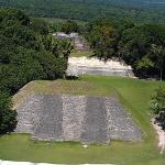View from the top level of the pyramid.