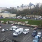 View of the car park which can get quite noisy