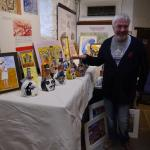 exhibitor at the craft fair in the old gaol