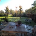 Zicht op de achtertuin