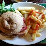 Bacon butty and chips was amazing