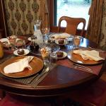 One of the breakfast tables