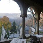 early morning view from the veranda