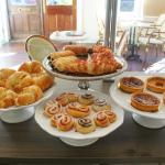 Freshly baked french pastries and pies