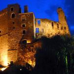 Le Château de Clisson de nuit
