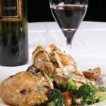 Half Roast Chicken Sherry Shallot Brocoli Cream & Rosemary Roasted Red Skinned Potatoes