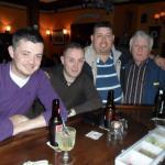 The Murphy Clan enjoy a pint.