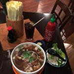 I was pleasantly surprised by the ambiance and the pho was nice.