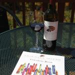 Wine & coloring... ok, sure.