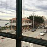 View of Monterey Bay and Cannery Row from dining room.
