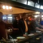 at the bar b q