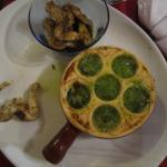 entrée d'1 menu cuisses de grenouilles et escargots