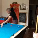 Pool table and Foosball at the villa