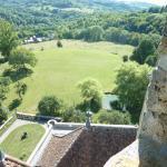 Vue panoramique du haut du chateau