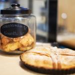 Selection of our homemade cakes and cookies including apple pie, biscottis, coconut macaroons